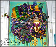 Mardi Gras Wreath by RedWithEnvyDesigns on Etsy
