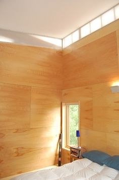 Plywood for walls and floors are a great idea! Easy to install and cost effective!