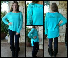 Turqouise Knitted Sweater