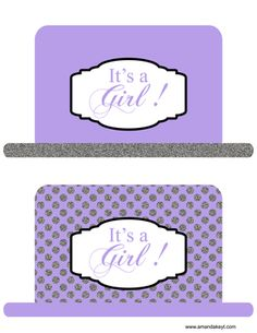 Hats from Baby Princess Purple & Silver Glitter Printable Photo Booth Prop Set