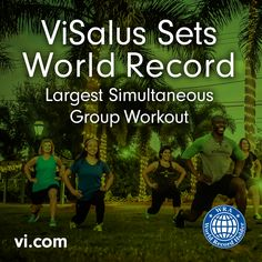 ViSalus Sets Official World Record for World's Largest Simultaneous Group Workout with 15,180 Participants and 2,180 Groups; Raises 455,400 Meals for Children