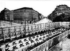 The Berlin Crisis lasted from when Nikita Khrushchev demanded the United States, Great Britain and France pull their forces out of West Berlin within six months and culminated in the Berlin Wall which left Germany divided. West Berlin, Berlin Wall, Jfk Presidency, Tear Down This Wall, Socialist State, Street Pictures, The Second City, East Germany, Cold War