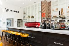 Cafe Coffee Bar Scene PSD Mockup