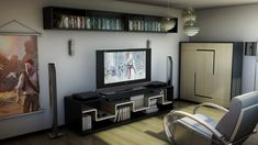 Modern Gaming Living Room - Best Video Game Room Ideas: Cool Gaming Setup Designs, Gamer Room Decor, and Apartment Decorating Ideas - Bedroom, Living Room, Small Room Home Decor Bedroom, Living Room Decor, Bedroom Ideas, Bedroom Games, Living Room Small, Bedroom Small, Master Bedroom, Deco Gamer, Bedroom Minimalist