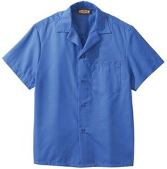 Edwards 1029 Poplin Camp Shirts With Pocket (Short Sleeve)