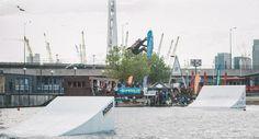 Wake boarding in the Royal Victoria Docks!