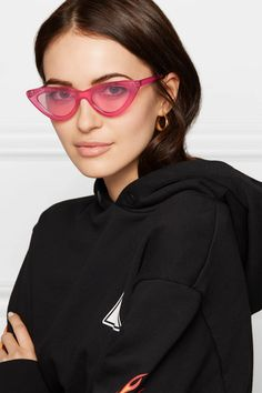 81fc2316d4d Le Specs - Adam Selman The Last Lolita Cat-eye Acetate Sunglasses - Pink  https