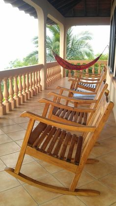 Playa Negra, Costa Rica...I will be there SOON!! This is the actual front porch to our beach rental house!