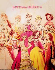 New Disney Princess Couture Dolls!