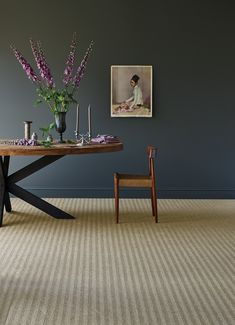 Crucial Trading's Sisal Harmony Herringbone floor covering design in 'Gentle Fawn' colour way. #crucialtrading #floorcovering #carpet #rugdesign #homedecor