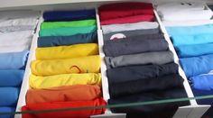 Organize camisetas de forma mais prática e faça a gaveta parecer muito maior