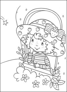 Strawberry Shortcake Printable Coloring Pages, from Girls Coloring Pages category. Find out more coloring sheets here. Coloring Pages For Girls, Cartoon Coloring Pages, Disney Coloring Pages, Coloring Book Pages, Printable Coloring Pages, Coloring For Kids, Coloring Sheets, Strawberry Shortcake Coloring Pages, Strawberry Shortcake Party