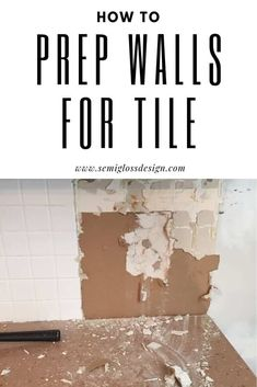 tiles Backsplash Learn how to prep a wall for a tile backsplash. I share my method for removing tile from walls, plus how I repair the walls for a new backsplash. Deep Cleaning Tips, House Cleaning Tips, Cleaning Hacks, Silica Gel, Remove Tile Backsplash, Backsplash Design, Painting Tile Backsplash, Tile Painting, Wall Tiles Design
