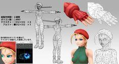 """""""筋肉の練習で作ったキャミィ。3DGGはテクスチャ描くのが一番好きです。 #3DCG #ローポリ #lowpoly #MAYA #StreetFighter"""""""