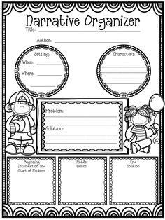 """Hoping this freebie gets your students on the """"write"""" track when it comes to organizing their ideas and writing a narrative!"""