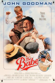 """Film: The Babe (1992) Year poster printed: 1992 Country: USA Size: 27""""x 40"""" This is a vintage one-sheet poster from 1992 for The Babe starring John Goodman (as Babe Ruth), Kelly McGillis, Bruce Boxlei"""