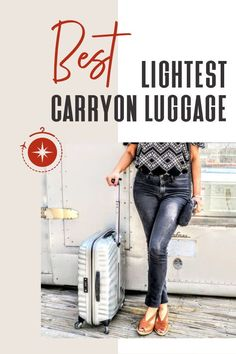 To help you avoid overweight baggage fees, we've rounded up the best lightweight luggage (and we actually own most of them, too). And the best part? They're all under 5lb! You have to see this! #TravelFashionGirl #TravelFashion #TravelAccessories #luggage #carryonluggage #lightweight Lightweight Luggage, Packing Light, Packing Tips For Travel, Baggage, Travel Accessories, Travel Style, Women, Pack A Suitcase, Woman