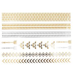 COKOHAPPY Metallic Temporary Tattoo , Arrow Fake Jewelry Gold Silver * You can get more details by clicking on the image. (Note:Amazon affiliate link)