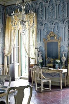French blue Parisian room