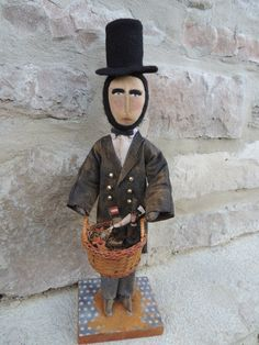 A personal favorite from my Etsy shop https://www.etsy.com/listing/229984416/original-patriotic-primitive-abe-lincoln