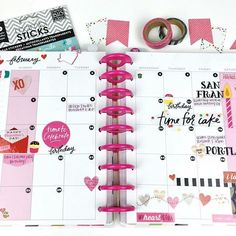 It's always fun to prep your Happy Planner™ pages for the upcoming month, but when it's your birthday month AND your sweetie's birthday month AND Valentine's Day, well then it's 3x as fun! That's what mambi Design Team member @_4everplanning was working with when she prepped these pages in her Happy Planner™. #TheHappyPlanner @the_happy_planner #embracethediscs #planyourhappylife