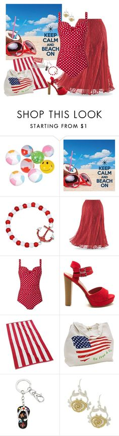 """""""Beach On"""" by shoppe23 ❤ liked on Polyvore featuring Kassatex, stylishcurves and plussizeswimsuit"""
