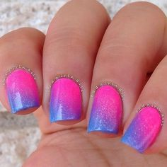 Pink and blue ombre