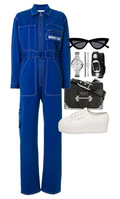 """""""Untitled #23697"""" by florencia95 ❤ liked on Polyvore featuring Prada, Givenchy, Superga, Le Specs, FOSSIL and Balenciaga"""