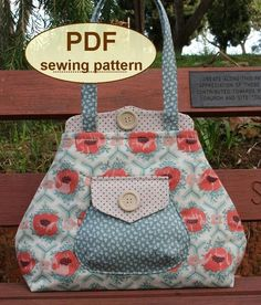 Premium Bond Bag Sewing Pattern by Charlie's Aunt Designs + How to Sew a Dart - Free Video Tutorial