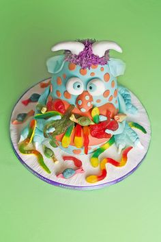 monster cake. This is kinda gross.. which means that my BOY will LOVE it!