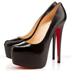 #CL #Louboutin #Shoes Enjoy Most Wonderful Life If You Buy Christian Louboutin Daffodile 160mm Platforms Black CGE Here!