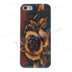 Blu-ray Rose IMD Plastic Rhinestone Case for iPhone 5s 5