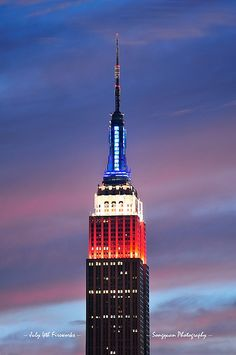 Empire State Building at night New York City NYC