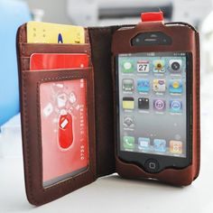 iPhone iWallet iBook Case vintage leather look