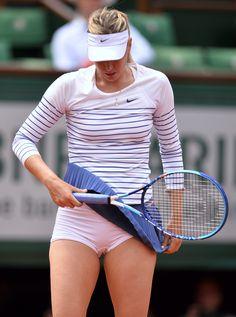 Maria Sharapova Upskirt on Court in France on TaxiDriverMovie.com