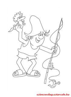 nagy-hohoho-horgasz-kifesto-002 Pencil Drawings, Nursery, Clip Art, Fish, Halloween, Disney, Google, House, Home