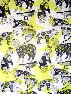 very cute illustration with fun pattern textile design makumo