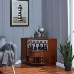 Shop Holly & Martin Hentz Midcentury Modern Wine Bar Cabinet - On Sale - Overstock - 22694328