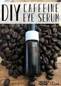 Homemade Eye Serum: DIY Caffeine Eye Serum Are you tired of looking tired? To reduce puffiness and dark circles around your eyes, whip up this all natural homemade eye serum. This homemade beaut Homemade Skin Care, Homemade Beauty Products, Diy Skin Care, Skin Care Tips, Natural Products, Diy Spa Products, Face Scrub Homemade, Beauty Care, Diy Beauty