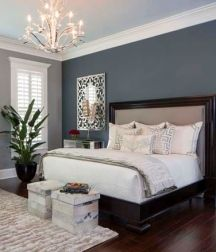 Painting accent walls a darker color is a classic look