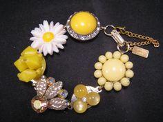 Bridesmaid Gift Vintage Earring Bracelet by JenniferJonesJewelry, $37.50