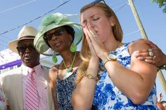 People join in prayer during Sunday service outside the Emanuel African Methodist Episcopal Church in Charleston.
