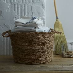 coil rope laundry basket