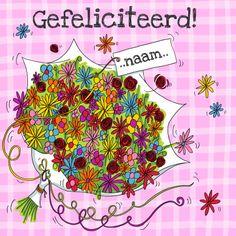 verjaardagskaart vrouw bloemen - Google zoeken