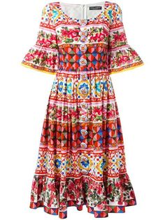 DOLCE & GABBANA Mambo print peasant dress. #dolcegabbana #cloth #드레스