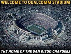 San Diego Super Chargers..... Will always be Jack Murphy Stadium to me