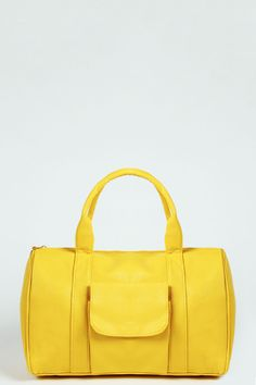 Lydia Pocket Front Barrel Bag yellow