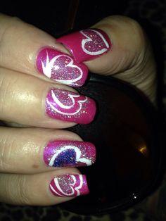 Valentines day nails shellac as usual! Hollywood Hair, Shellac, Hair Designs, Heart Ring, Valentines Day, Nails, Beauty, Valentine's Day Diy, Finger Nails