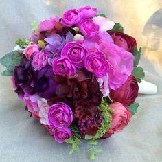 violet fuchsia wedding flowers - Google Search