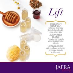 Royal Jelly's iconic Lift Concentrate increases elasticity and firmness in the skin. http://jafra.me/zw4